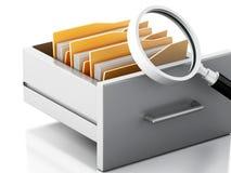 gabinete de arquivo 3d Conceito da busca Fotos de Stock Royalty Free