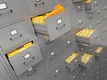 Gabinete de fichero Fotos de archivo libres de regalías