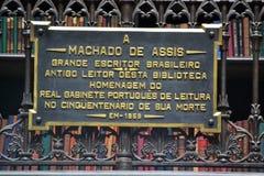 Gabinete de lectura portugués real imagen de archivo