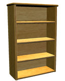 Gabinete de madera Imágenes de archivo libres de regalías