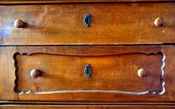 Gabinete de madera Foto de archivo libre de regalías