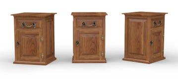 Gabinete de madera con acortar el pah Foto de archivo