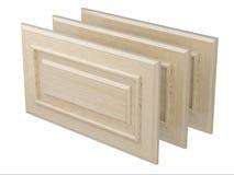 Gabinete de madera de las puertas Imagenes de archivo