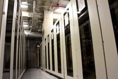 Gabinete de sistema del servidor de red Foto de archivo libre de regalías