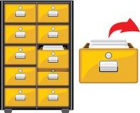 Gabinete del archivo stock de ilustración
