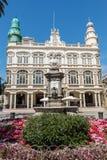 Gabinete Literario, πλατεία Cairasco και μνημείο σε Cairasco Στοκ Φωτογραφίες