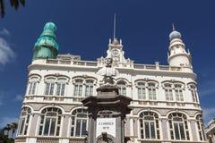 Gabinete Literario e monumento a Cairasco Imagem de Stock Royalty Free