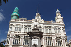 Gabinete Literario och monument till Cairasco Royaltyfri Bild