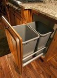 Gabinete moderno do desperdício da cozinha Fotografia de Stock