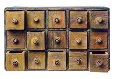 Gabinete primitivo del cajón del grunge imágenes de archivo libres de regalías