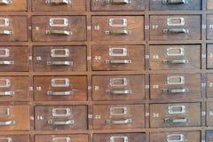 Gabinetes de archivo de catálogo Foto de archivo libre de regalías