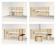 Gabinetes de cozinha Fotos de Stock