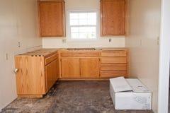 Gabinetes de cozinha sem bancada Imagem de Stock Royalty Free