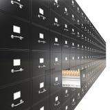 Gabinetes de fichero. Fotos de archivo libres de regalías