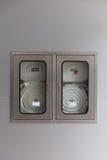 Gabinetes para los extintores Imágenes de archivo libres de regalías