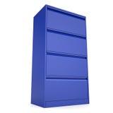 Gabinetto blu del metallo Fotografia Stock Libera da Diritti