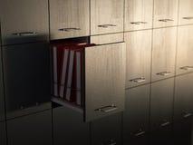 Gabinetto di archivio Immagini Stock