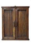 Gabinetto marrone di legno fotografia stock libera da diritti