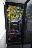 Gabinetto nero moderno del server Fotografia Stock Libera da Diritti