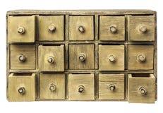 Gabinetto primitivo del cassetto Fotografia Stock