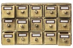 Gabinetto primitivo del cassetto Fotografie Stock Libere da Diritti