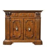 Gabinetto scolpito di legno del buffet della credenza della vecchia annata originale fotografia stock