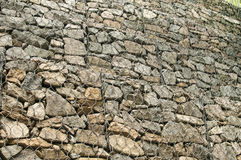 Gabion baskets filled with stones Royalty Free Stock Photo