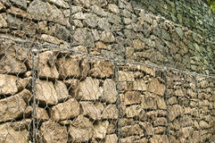 Gabion baskets filled with stones Royalty Free Stock Image