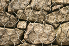 Gabion baskets filled with stones Royalty Free Stock Photography