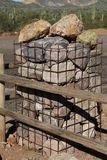 Gabion Column Royalty Free Stock Photos