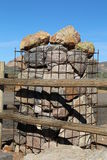 Gabion Column Stock Photography