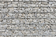 Gabion fence wall. Royalty Free Stock Photo