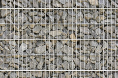 Gabion fence wall. Royalty Free Stock Photos