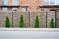 Gabion mesh wire fencing Royalty Free Stock Image