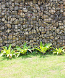 Gabion retaining wall Royalty Free Stock Photography