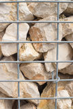 Gabion retaining wall Stock Images