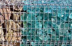 Gabion with stuffing Royalty Free Stock Photos