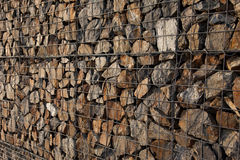 Gabion wall Stock Photography