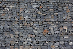 Gabion wall Royalty Free Stock Photos