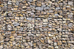 Gabion Wall Stock Photo