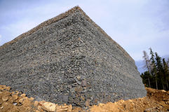 Gabion wall Royalty Free Stock Images