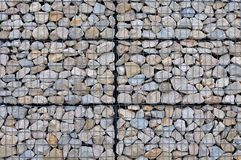 Gabion wall background stock photography
