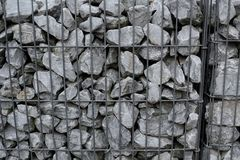 Gabionen. Gabions for the industry in the garden and landscaping Royalty Free Stock Photography