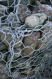 Gabions - coastal protection Royalty Free Stock Photos