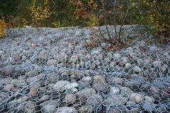Gabions - coastal protection Stock Photography