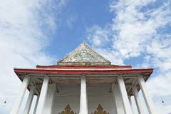 The gable of the ancient Thai temple Royalty Free Stock Photo
