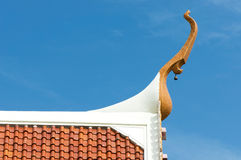 Gable apex. On Thai temple roof Stock Image