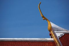 Gable apex. Beautiful Buddhist temple in thailand Royalty Free Stock Photo