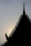 Gable apex. Shadow of gable apex of temple, Thailand royalty free stock photo