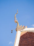 Gable apex architecture of golden buddha Royalty Free Stock Photography